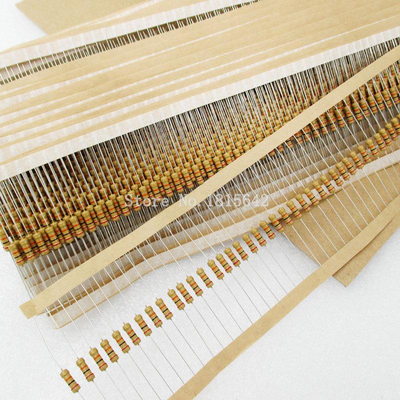 100PCS/LOT 1/2W Carbon Film Resistors 5% Error 150K ohm 150k Ohm 150KR Color Ring Resistance