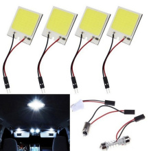 1PC 3W 12V Car Indoor Dome Light 18 24 36 48 LED COB White Car Interior Decoration Double-pointed Roof Bulb Heat Dissipation