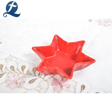 Hot selling restaurant hexagonal shape ceramic small dishes