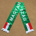 Shining Soft Satin EUFA MAGYARORSZAG Promotional Football Fan Scarf