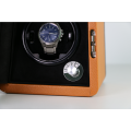 Single Watch Winding Case With Microfiber Leather