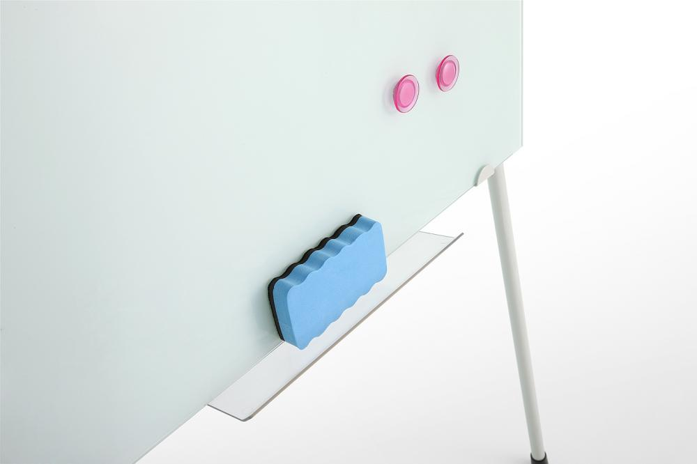 tempered glass whiteboard with pen holder