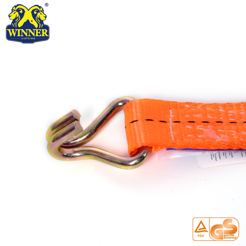 Ratchet Tie Down Straps And Cargo Lashing Belt With Hooks