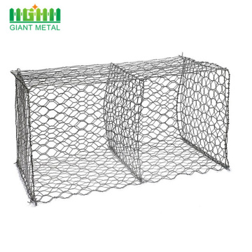 Galvanized river bank protect stone gabion basket