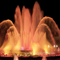 commercial musical fountain with lights