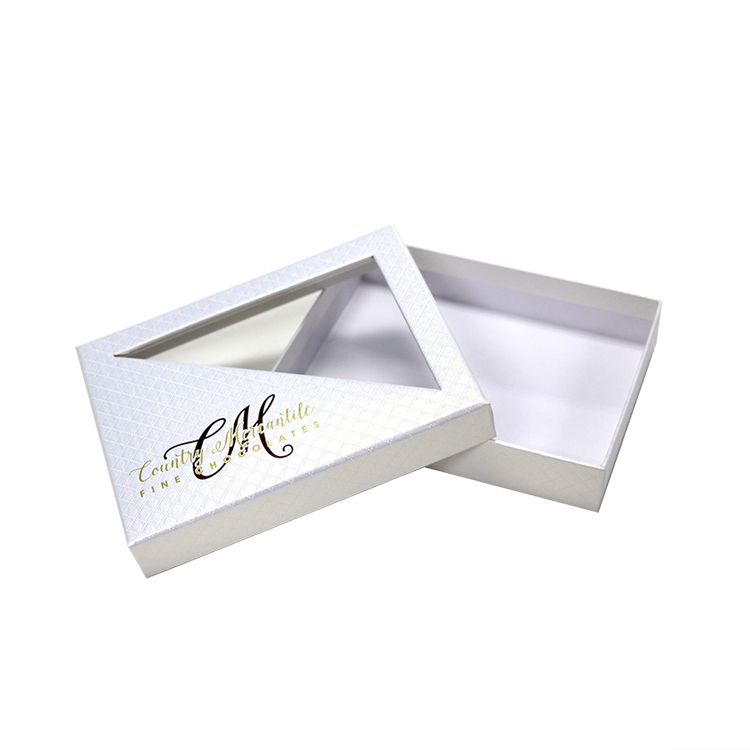 Skin Care Kit Box With PVC Window Lid