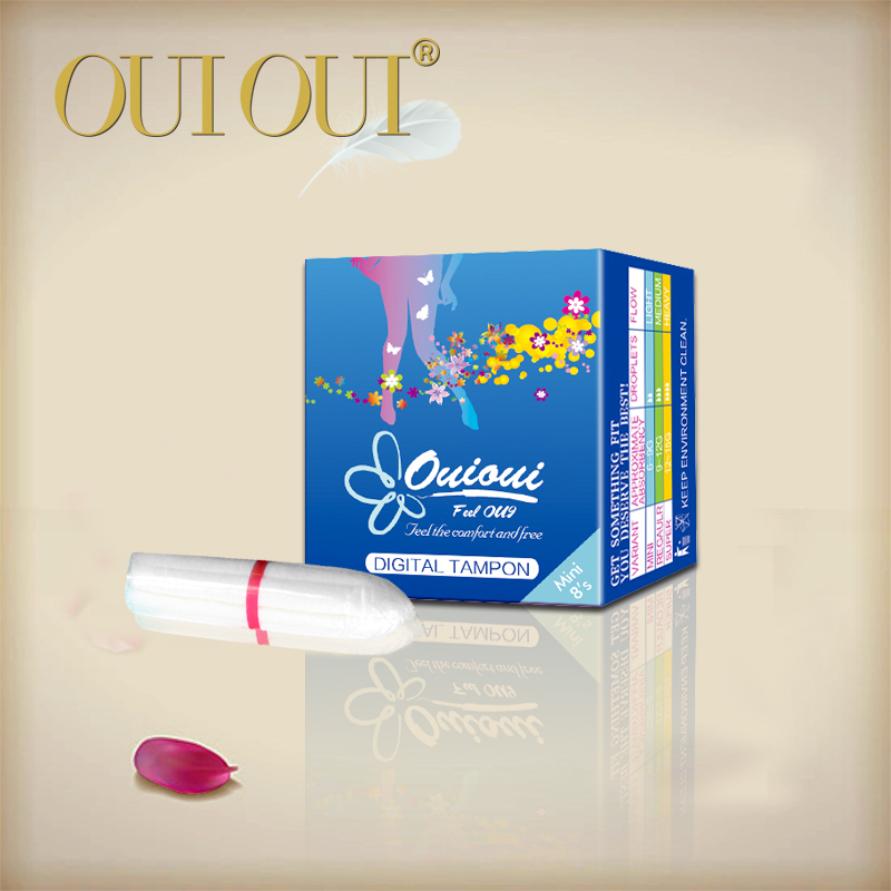 Feminine products digital tampon without applicator