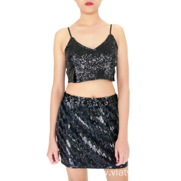 Woman's Sexy Sequin Skirts