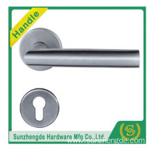 SZD STH-122 brushed SS304 stainless steel tubular lever lock handle with safety