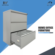 steel office three drawer lateral file cabinets