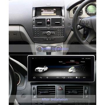 Android 10.0 Mercedes Benz W204 10.25 Touch Screen
