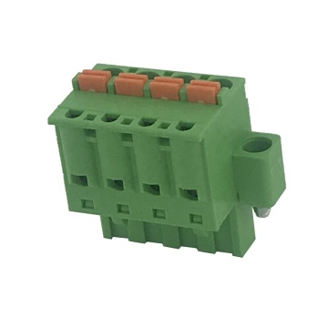 4pin female push button spring terminal block