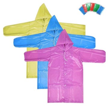Waterproof Adults Plastic Raincoat with Sleeves and Hood