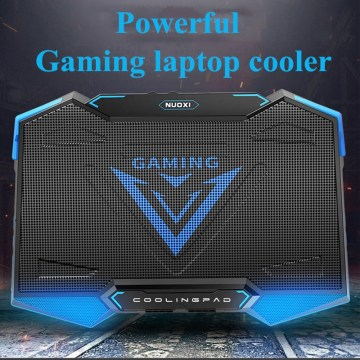 Powerful 18 Inch Gaming Laptop Cooler 5 Fan Led Screen 2 USB Laptop Cooling Pad with Stand for Professonal Gaming Laptop Gamer