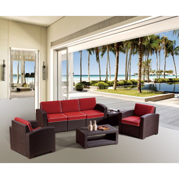 PP rattan sofa set for patio