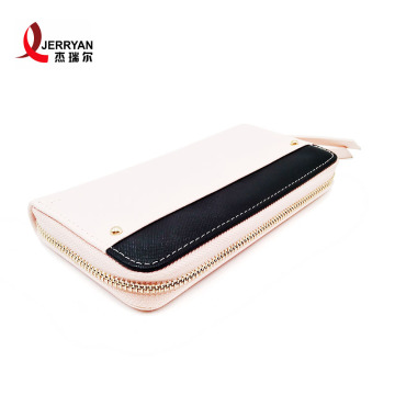 Fancy  Leather Slim Card Holder Purse Wallet