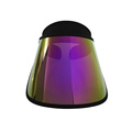 Fashion purple visor hat wholesale uv protection