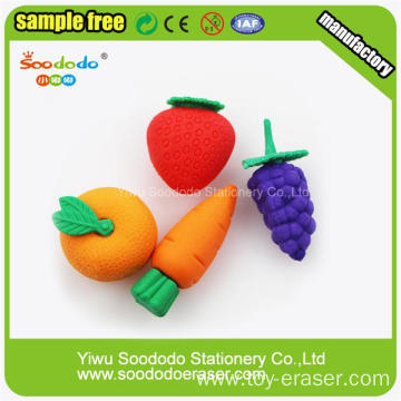 Novelty Vegetable 3D Erasers For Kids