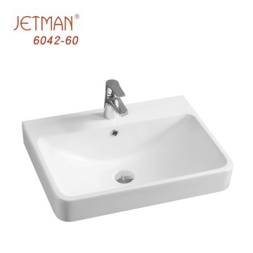 Modern design unbreakable ceramic bathroom vanity sinks hand wash basin