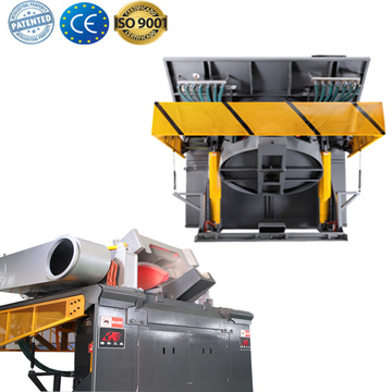 industrial steel shell induction heat furnace