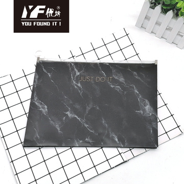 Marbling style PP zipper file holder