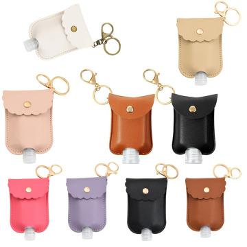 1Pcs Travel Bottle And Keychain Holder Refillable Empty Bottles For Hand Sanitizer Organizer Keychain Key Rangement Zipper Bag