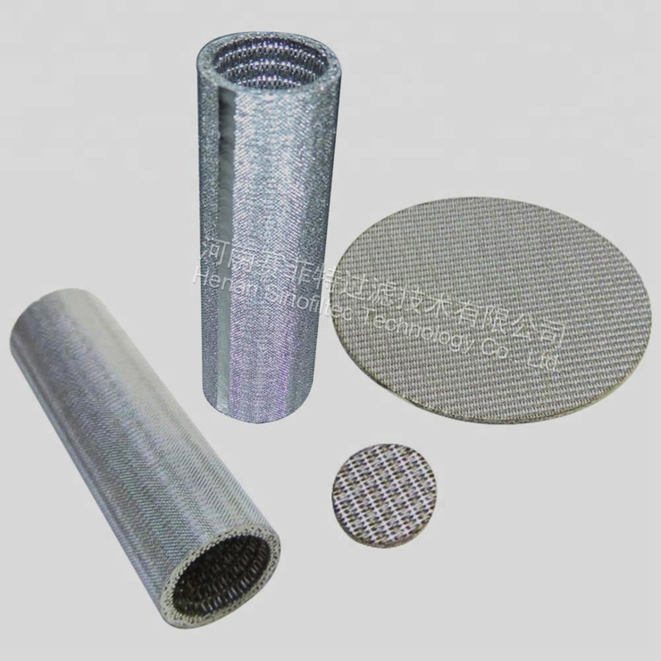 Sintered stainless steel mesh filter tube