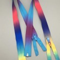 Pretty gradient ramp rainbow tape Nylon zipper