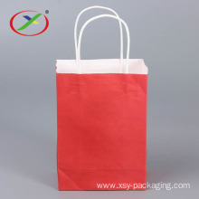 Recycle Take Away Paper Bag With Handles