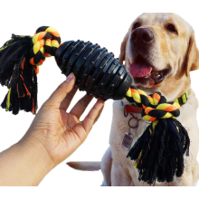 Durable Dog Chew Toys Combine Ball Rope