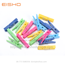 EISHO Multi Colorful Decorative Plastic Clothespins
