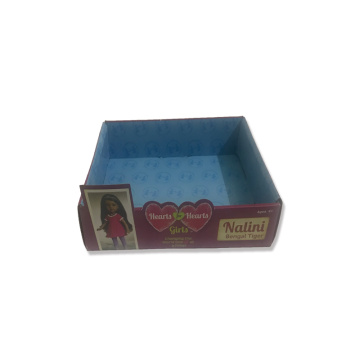Grand carton de carton transparent