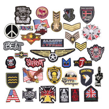 Military Badges Embroidery Patches Iron On Patch