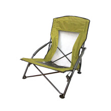 2019 New portable powder-coated steel low beach chairs