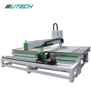 cnc router woodworking 4 axis with rotating shaft