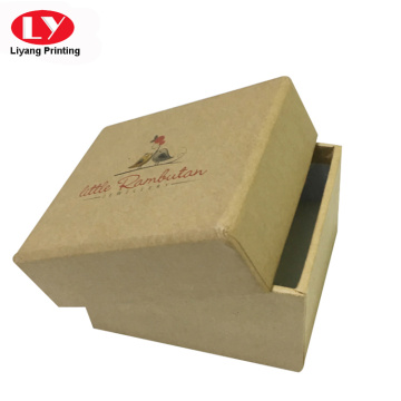 Small square brown kraft jewelry cardboard box
