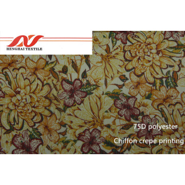 75D chiffion crepe printing fabric