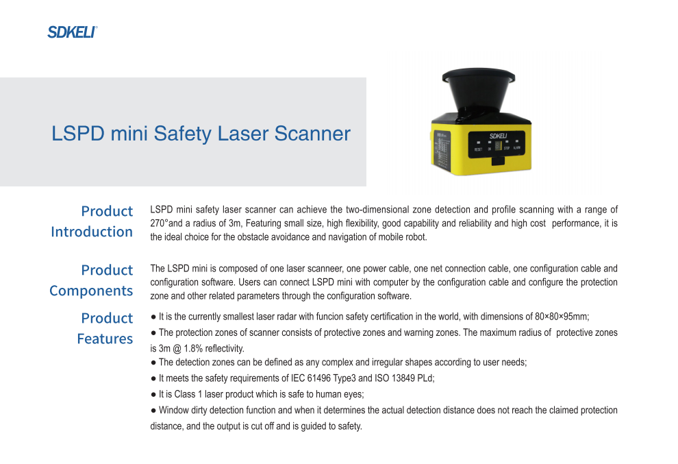 LSPD mini safety laser scanner1