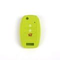Silicone Car Key Cover 3 Li-Buttons Bakeng sa Kia