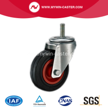 3'' Threaded Stem Swivel Rubber PP Core Industrial Caster