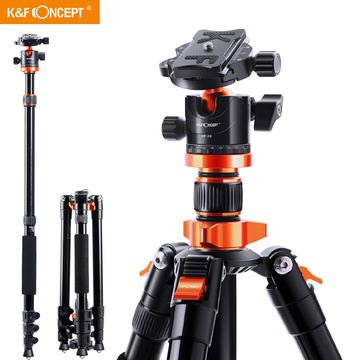 K&F Concept Camera Tripods for DSLR Aluminum Travel Vlog Tripod Monopod with 360 Degree Panorama Ball Head Loading Up to 10kg