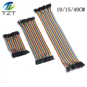 TZT Dupont Line 10cm/15cm/40cm Male to Male + Female to Male and Female to Female Jumper Wire Dupont Cable for arduino DIY KIT