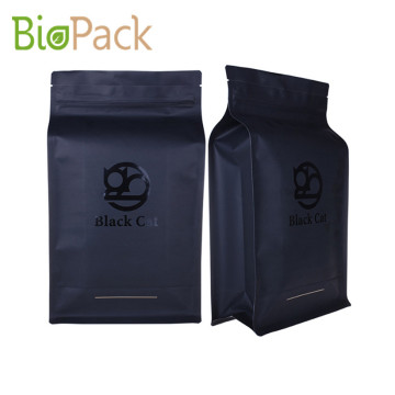 Flat Bottom Tea Bag with Zipper