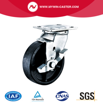Plate High Temperature Caster with Side Brake