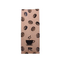 Kraft Paper Flat Bottom Pouch for coffee beans