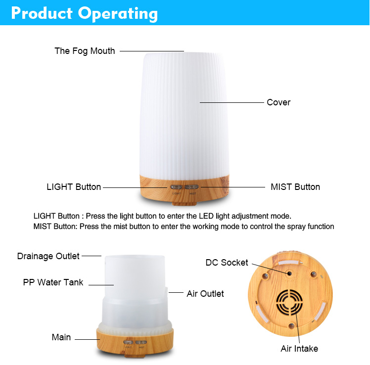 100ml real wood aroma diffuser