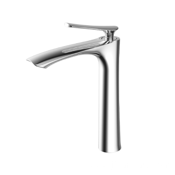 Chrine single lever modern basin faucet