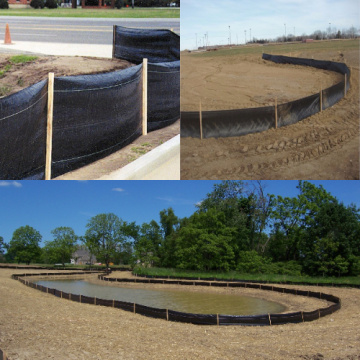 Pp Woven Geotextile Silt Fence