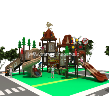 Playground Equipment With Climbing Course