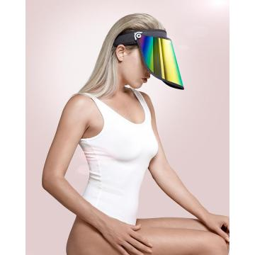 Fashion accessories gold visor hat uv protection